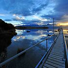 Lake Te Anau sunset. South Island, New Zealand. (2) by Ralph de Zilva