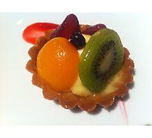Fruit Tart Photographic Print