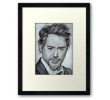 Faces-Robert Downey Jr. Framed Print