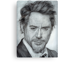 Faces-Robert Downey Jr. Canvas Print