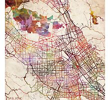 San Jose map Photographic Print