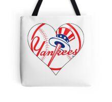 Yankees love Tote Bag