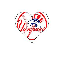 Yankees love Photographic Print