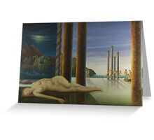 On canvas The Dream of the Muse Greeting Card