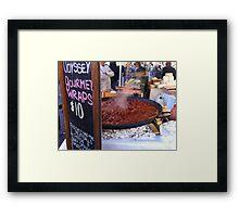 Gourmet Meatballs Framed Print