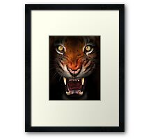 Fierce tiger Framed Print