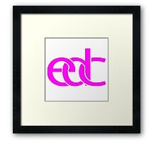 Electronic dance music pink Framed Print