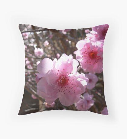 Peach blossom Throw Pillow