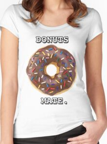 Donuts Mate. Women's Fitted Scoop T-Shirt