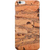 Brown cork material texture iPhone Case/Skin