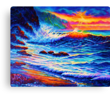 Sunset Peak a Boo Canvas Print
