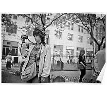Tourist at ground zero Poster