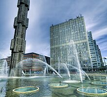 Fountain, downtown stockholm. by cloud7