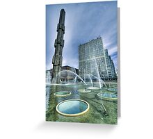Fountain, downtown stockholm. Greeting Card