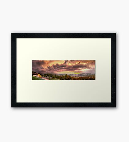 Swiss Storm Cell Panorama Framed Print