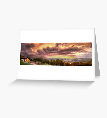 Swiss Storm Cell Panorama Greeting Card