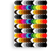 Funky set of scales Canvas Print