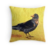 the raven and white sun Throw Pillow