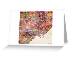 Toronto map Greeting Card