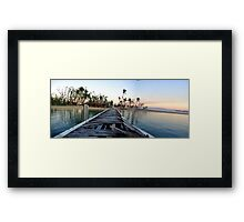 Dunk Island Jetty Framed Print