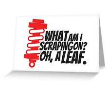 What am I scraping on? 4 Greeting Card