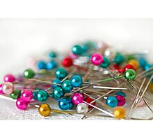 Coloured Pins Photographic Print