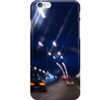 Cars motion street night lights iPhone Case/Skin