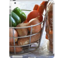 Vegetables and whole wheat bread. iPad Case/Skin