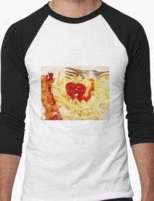 Breakfast Love Men's Baseball ¾ T-Shirt