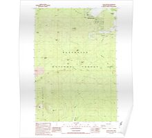 USGS Topo Map Oregon Black Crater 279054 1988 24000 Poster