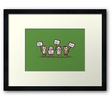 Zombie lives matter! Framed Print
