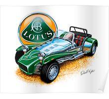 Lotus Caterham Super 7 BRG Poster