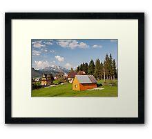 Bucolic view in Koscielisko village Framed Print