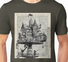 Steampunk house Howl Dictionary Art Unisex T-Shirt