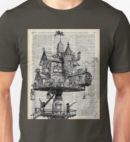 Steampunk house Howl Dictionary Art Unisex T-Shirt
