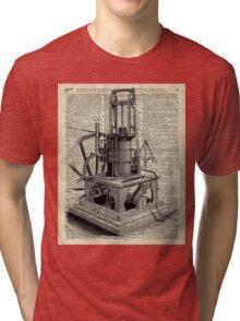 Steampunk machine Vintage Dictionary Art Tri-blend T-Shirt