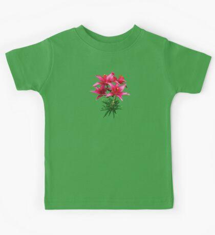 Magenta Lilies Kids Tee