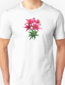 Magenta Lilies Unisex T-Shirt