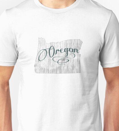 Oregon State Typography Unisex T-Shirt