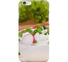 cottage cheese with radish iPhone Case/Skin
