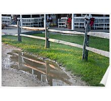 Puddle Fence Poster