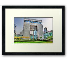 DIFC Framed Print