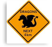 Dragons - 4km Canvas Print