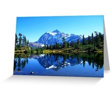 """Mount Shuksan and Picture Lake in the Fall"" Greeting Card"