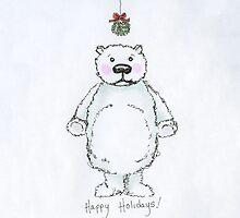 mistletoe bear by mockbird