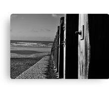Beachfront Groynes  Canvas Print