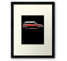 MINI, CAR, RED, BMW, BRITISH ICON, MOTORCAR Framed Print