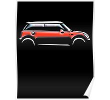 MINI, CAR, RED, BMW, BRITISH ICON, MOTORCAR Poster