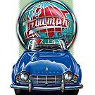 Triumph TR-4 Blue by davidkyte