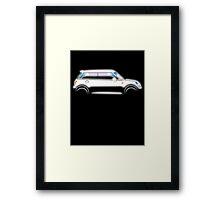 MINI, CAR, WHITE, BMW, BRITISH ICON, MOTORCAR Framed Print